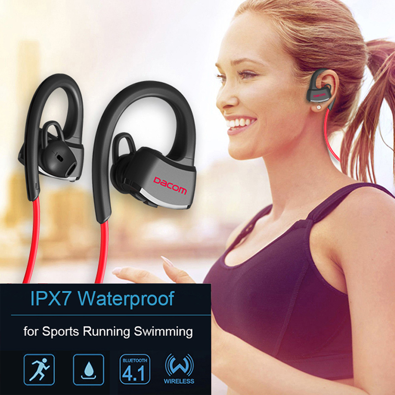 DACOM P10 Wireless Sport Headset IPX7 Waterproof Bluetooth Stereo Earphones with Microphone Mic for Swimming/Music/Handfree Call