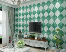 beibehang Modern Chinese stereo simulation diamond tile brick pattern PVC wall paper Bedroom living room TV background wallpaper
