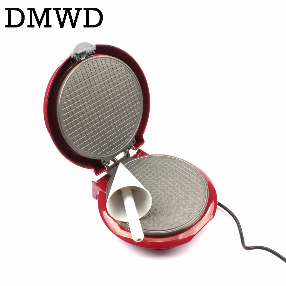 DMWD Electric Egg Roll Maker Crispy Omelet Mold crepe baking Pan Waffle Pancake Bakeware ice cream cone machine pie frying grill