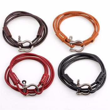 Joyería Druzy estilo occidental impresionante brazalete de cuero genuino regalo Unisex armonía amistad pulsera elección de color