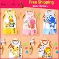 Новый детский Набор Детские Детские футболки Для Девочек Мальчиков Одежда майка + брюки Майку Шорты Одежда набор