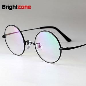 Image 3 - Brightzone טהור טיטניום לשחזר דרכים עתיקות משקפיים מסגרת איש אופטיקה קוצר ראייה משקפיים מעגל מסגרת גברתי משקפיים מסגרת E 8018