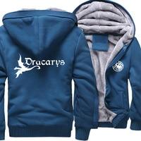 Dracarys Dragon Print Hoodie Game Of Thrones Winter Thick Style Hot Sale Harajuku Streetwear Zipper Fleece Jacket Plus Size Coat