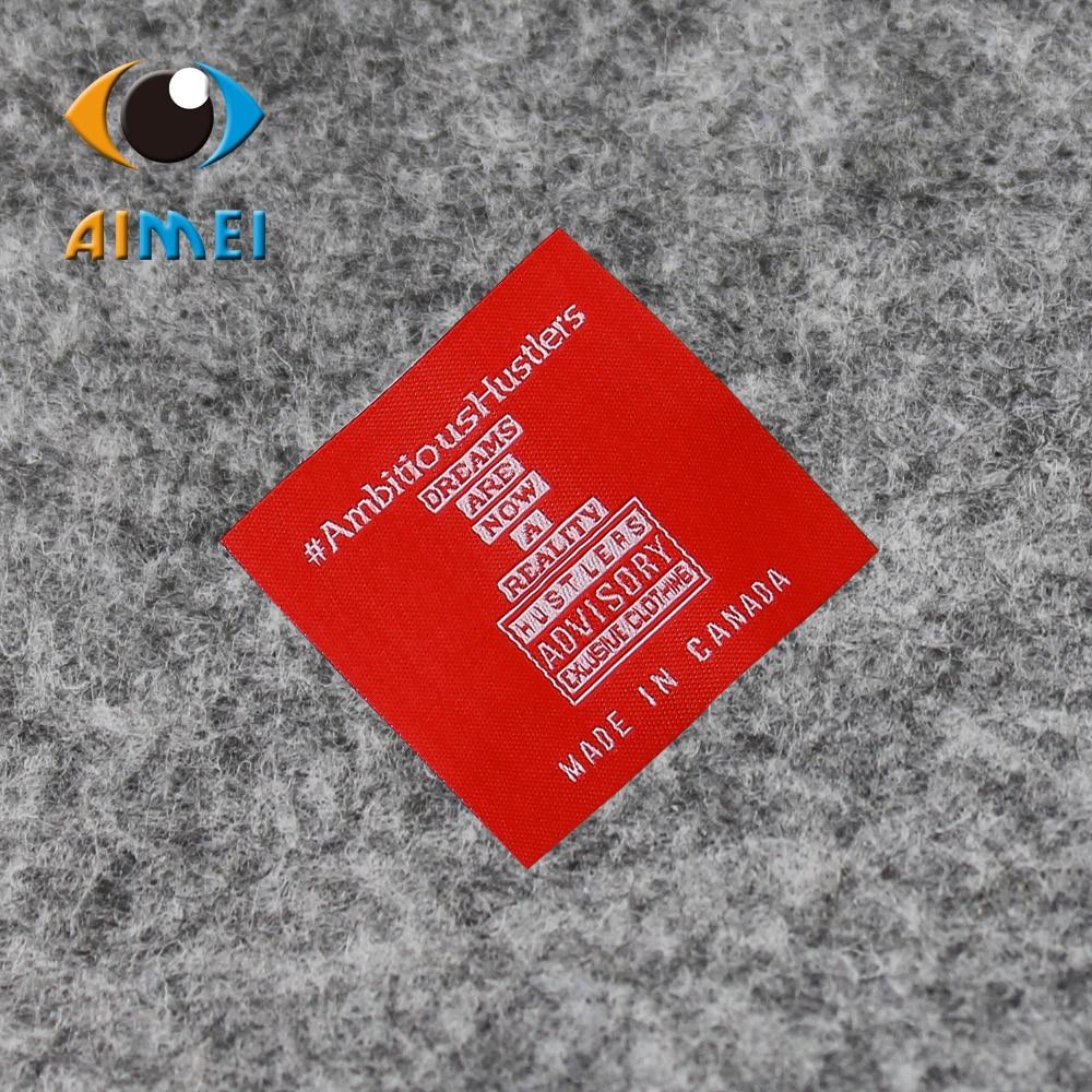 a40ba94c20606 تسميات مخصصة حلقة أضعاف الفضة شعار الخطوط لفستان الملابس الكلمات أكياس هدية  قبعة مخصصة المنسوجة تسمية خاصة لعلامة الملابس