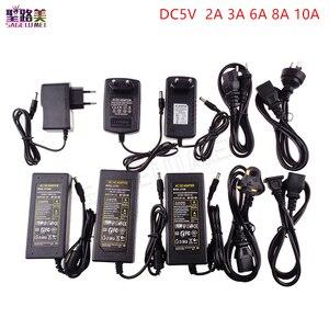 Светодиодный источник питания для адаптера DC5V / DC12V / DC24V 1A 2A 3A 5A 7A 8A 10A для 5 в 12 В 24 В RGB светодиодный светильник