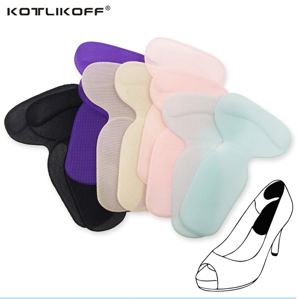 KOTLIKOFF T-Shape High Heel Grips Liner Arch Support Orthotic Shoes Insert Insoles Foot Heel Protector Cushion Pads for Women