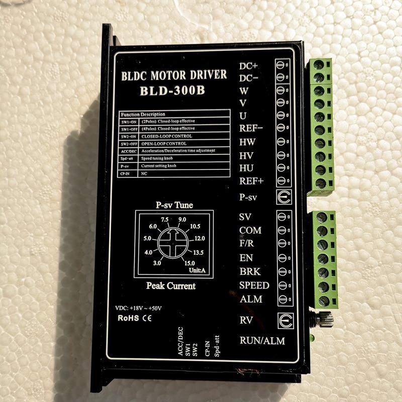 24V 36V48V BLDC Motor Driver 300W 18V-50V DC Brushless DC Motor Driver Controller BLD-300B24V 36V48V BLDC Motor Driver 300W 18V-50V DC Brushless DC Motor Driver Controller BLD-300B