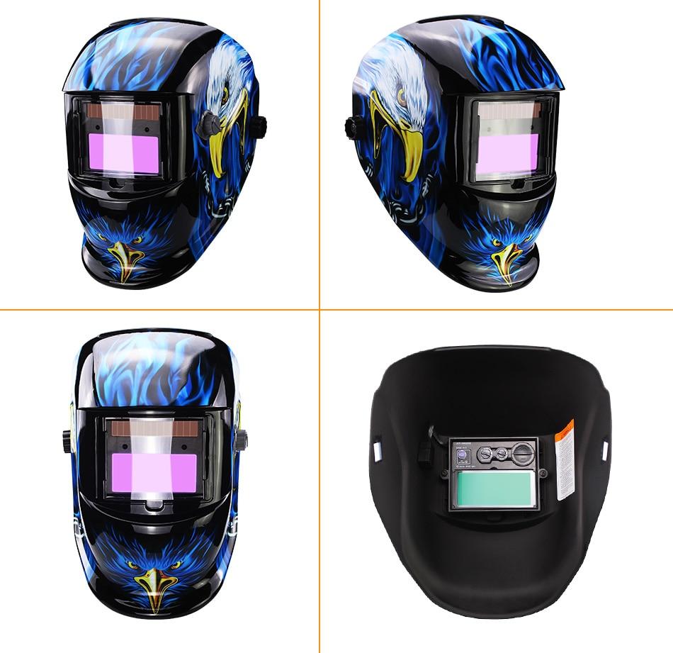 RA /_ novo Movido À Energia Solar Auto Escurecimento soldagem Capacete Máscara Olhos Óculos De Proteção Soldador Gl