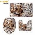 Чехол на сиденье для унитаза HUGSIDEA с леопардовым принтом тигра  3D-чехол для ванной комнаты  теплая крышка для унитаза  мягкие Нескользящие ко...
