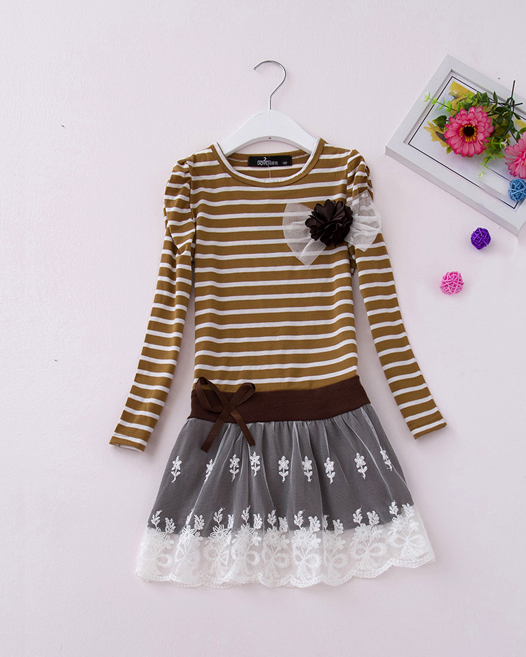 Retail 2018 spring girls dress rose color cute girl dress children's apparel baby suit Flower Kid Party Dress