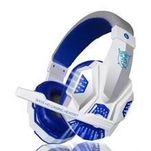 Venta caliente Profunda Bass Juego Rodeado Over-Ear Auriculares Estéreo Gaming Headset Diadema Auricular con la Luz para Pc Gamer
