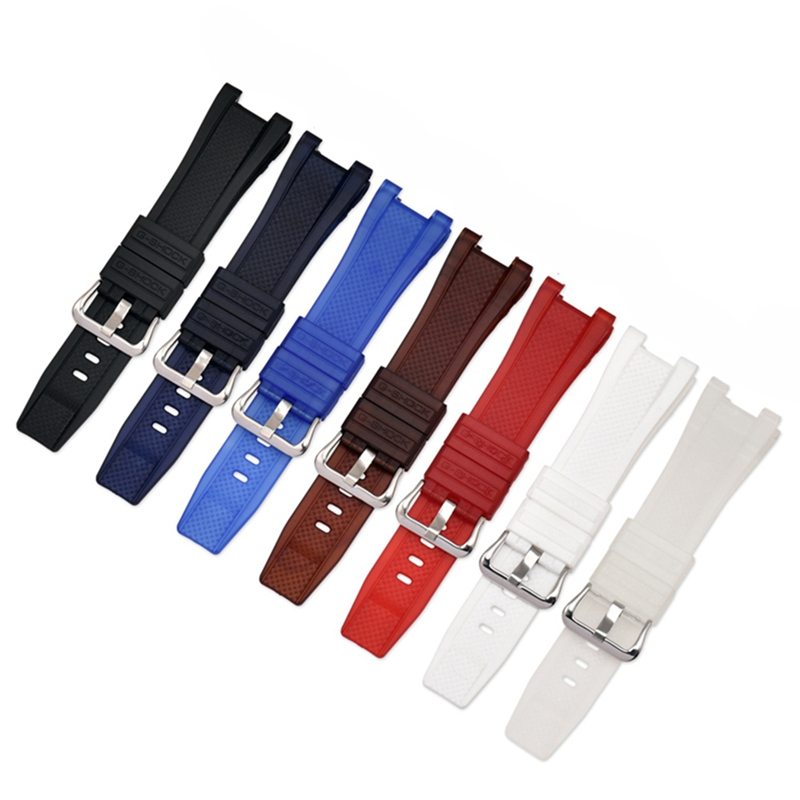 Replacement Band Strap Pin Buckled Adjustable Resin Rubber Wristband  Bands Replacement Accessories For GST-W