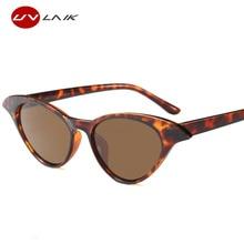 UVLAIK Cat Eye Sunglasses Women Vintage Brand Designer Cateyes Sun glasses Transparent Frame Clear Glasses uv400 Shades
