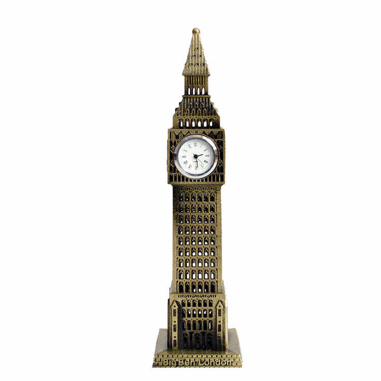 The World Famous Landmark Big Ben Decor Model European Style of The Ancient Big Ben In London Building Statue Figurine