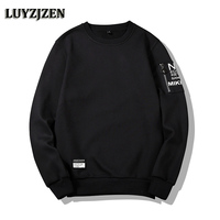 LUYZJZEN Spring Autumn Men S Sweatshirt 2018 New Arrival Hoodies Men Casual Solid Fashion Slim Fit