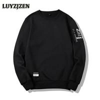 LUYZJZEN Spring Autumn Men S Sweatshirt 2018 New Arrival Hoodies Men Casual Solid Fashion Slim Fit