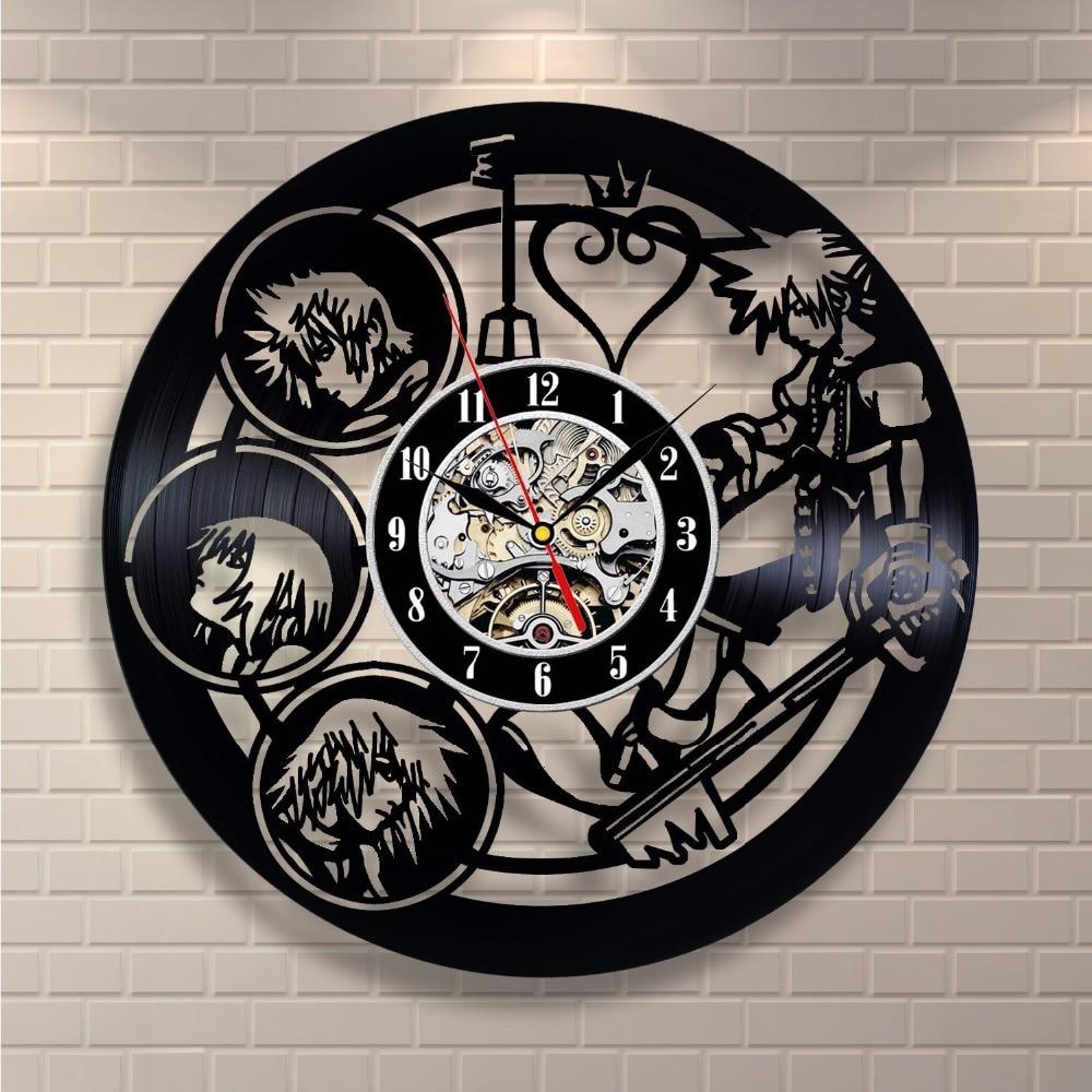 Kingdom Hearts anime diseño de vinilo Reloj de pared decorar su casa ...