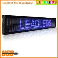 Indoor 16*128 pixel LED Display Board Pure BLAUWE Kleur Scrolling nieuws Display 101.3*16*3.8 cm