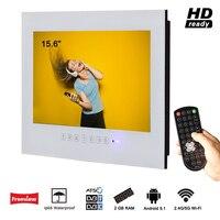 Souria 15,6 Белый светодио дный Ванная комната без каблука Экран IP66 Водонепроницаемый выполненные ТВ Номинальная антенны DVB T 2 C ATSC