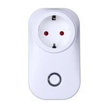 UE/EE.UU. Plug Wifi Inteligente Temporizador Toma de Interruptor Automático de Control Remoto Inalámbrico Home Smart Power Socket Plug por teléfono móvil