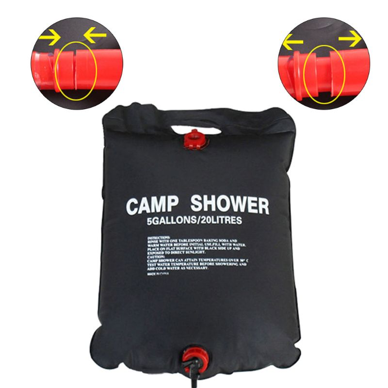 New Solar Heated Shower Camping Water Bathing Bag Outdoor Travel Hiking Portable 20L Wild Water Bag qiang