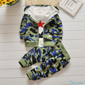 Kids Boy Camouflage Clothes Set 2016 Fall Toddler Baby Boys Girl Camouflage T Shirt+Cardigan Coat+Pant 3pc Infantil Clothing Set