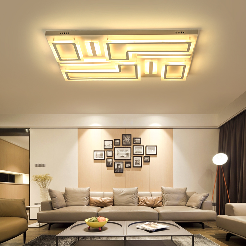 NEO Gleam New Arrival Surface Mounted Modern Led Ceiling Lights Lamparas De Techo Rectangle Acrylic Square
