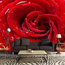 Floral Wallpaper For Walls Modern Fashion Simple Drops Red