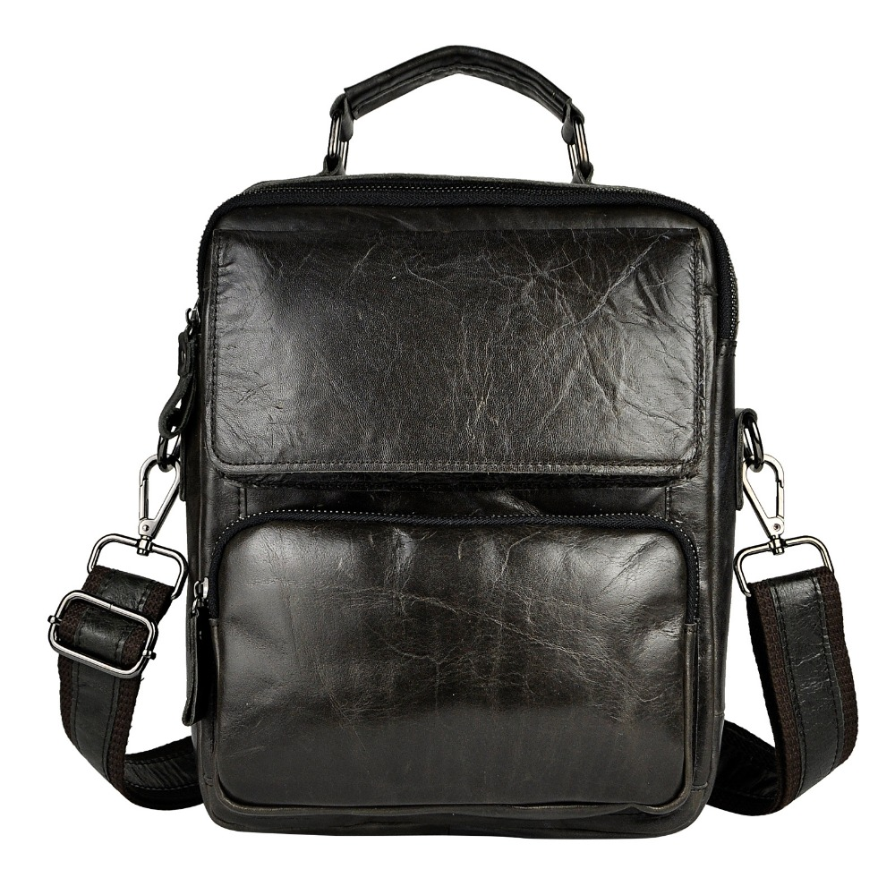 New Fashion Real Leather Multifunction Male Casual messenger bag Satchel cowhide 9