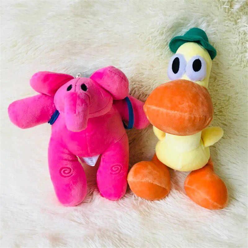 Elle 1 set/lote 20 cm Pocoyo boneca elefante de pelúcia brinquedo do cão pato brinquedos Mobiliário artigos do presente das Crianças das Crianças