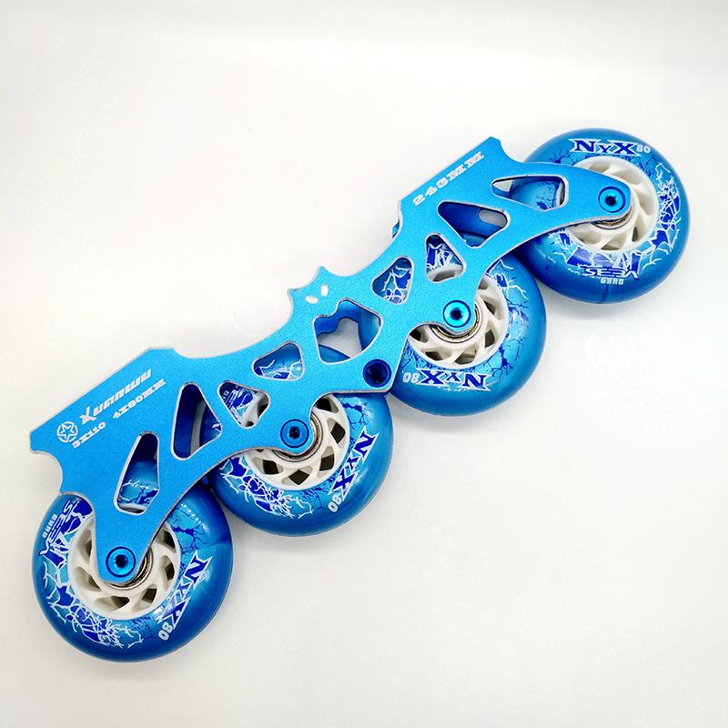 free shipping roller skates frame 243 mm bat frame including wheels