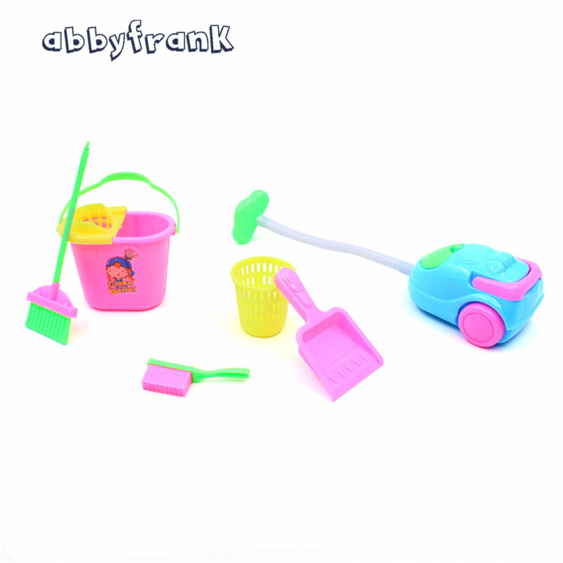 6 Items/Set Dolls Cleaning Kit Doll Accessories For 30cm Doll Household Cleaning Tools Play House Toys For Kids Home Furnishing