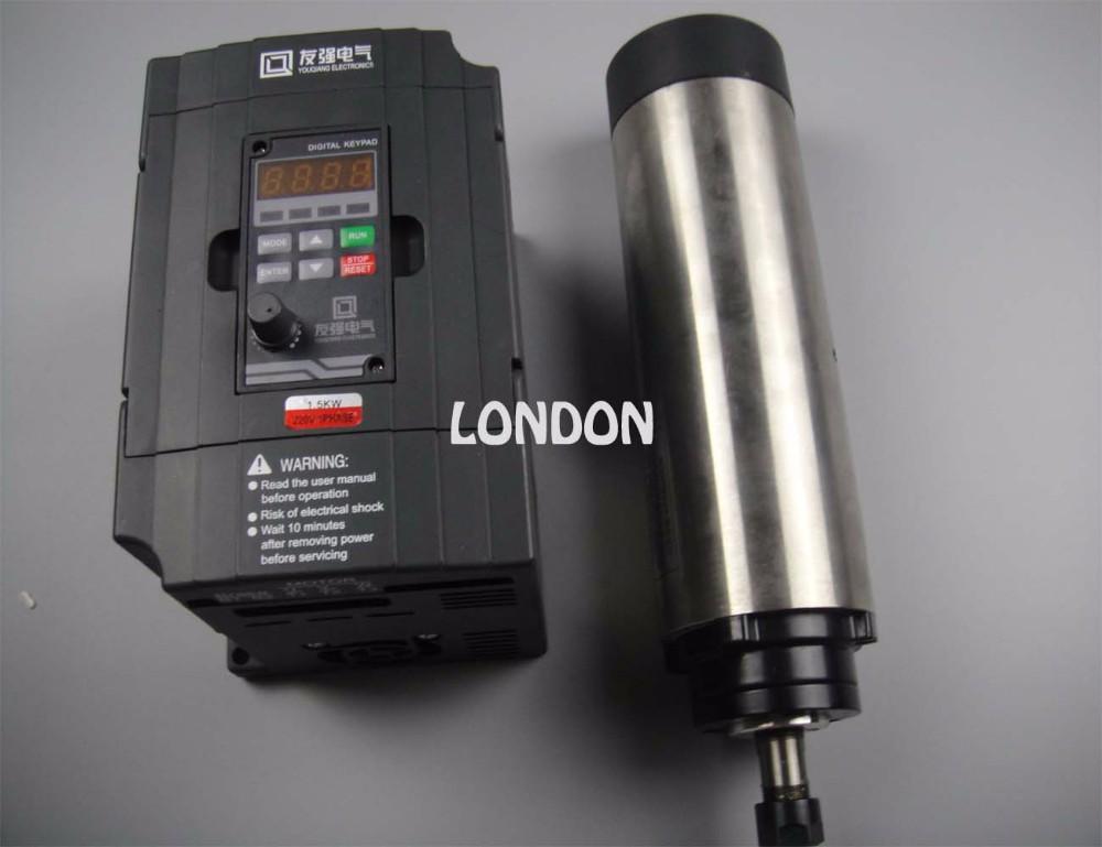 Купить CNC шпинделя комплект ER11 800 Вт воздушного охлаждения двигатель шпинделя + 1.5KW инвертор дешево