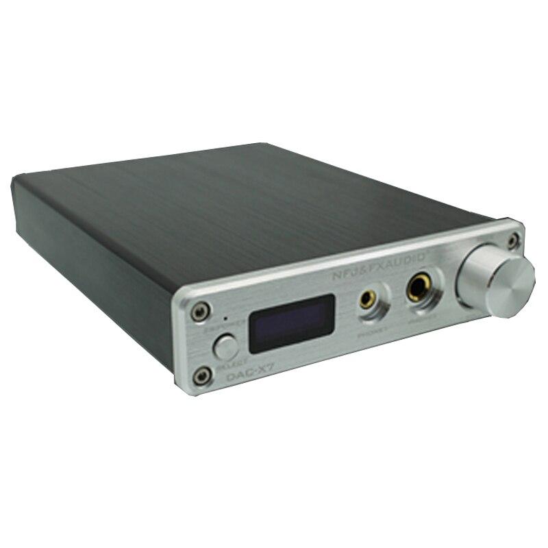 FX Audio DAC X7 XMOS AK4490EQ USB ЦАП Декодер HiFi аудио усилитель для наушников DSD256 OPA2604 TPA6120 amplificador аудио