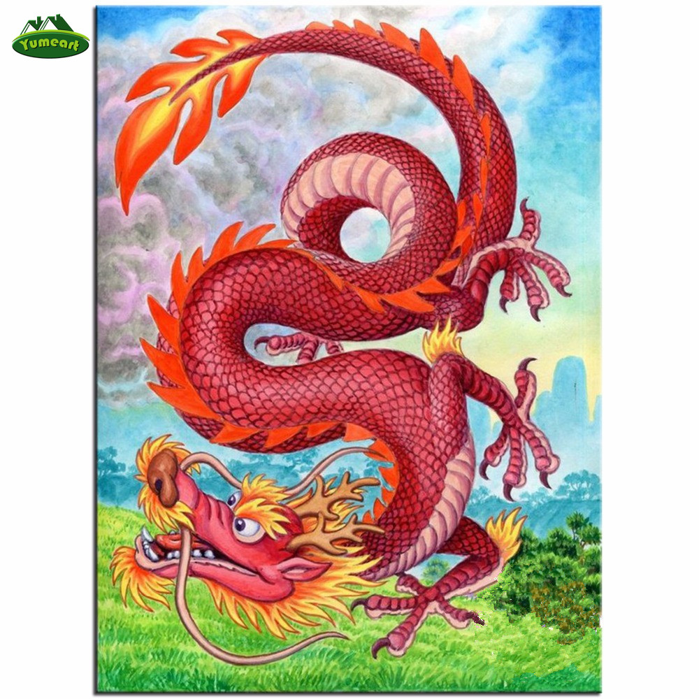 Home & Garden New Fashion 5d Diy Full Drill Diamond Cartoon Painting Dragon Cross Stitch Embroidery Mosaic Stitch Cross Stich Kids Gift Home Decoration