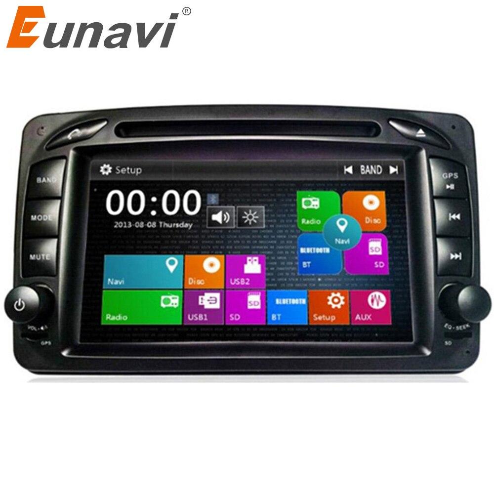 Lecteur DVD de voiture Eunavi 2 Din pour Mercedes/Benz/CLK/W209/W203/W168/W208/W463/W170/Vaneo/Viano/Vito/E210/C208 Radio GPS Canbus FM