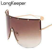 Brand Designer Oversized Visor Shield Sunglasses Women Men B