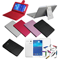 "Wireless Bluetooth Keyboard Case For Samsung Galaxy Tab 3 Lite SM-T110 T111 7"" Cover & Film & Stylus"