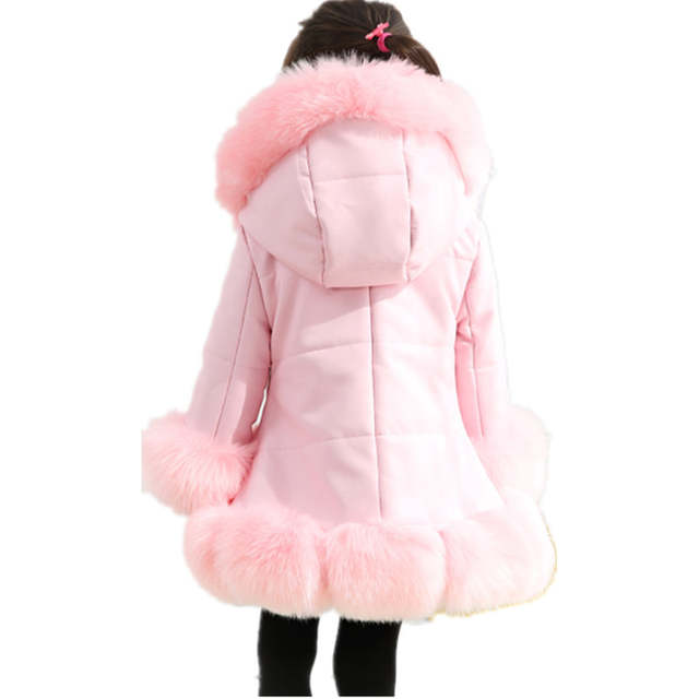 2ce1436f8 Online Shop Furry Winter Kid Girls Artificial Leather Faux Fur Coat ...