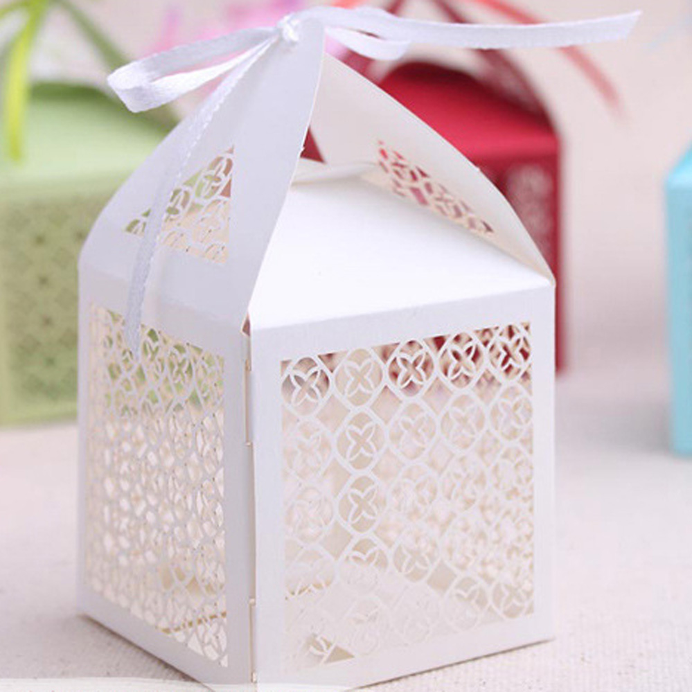 50pcs Elegant Luxury Laser Cut Hollow Out candy chocolate box for ...