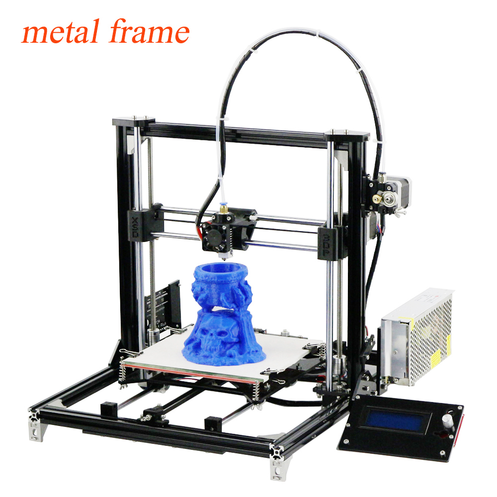 2016 LCD DIY 3d Metal Printer, Large Printing Size 3d-Printer Machine 3d Printer Kit With 2 rolls Filament 2GB SD Card For Free