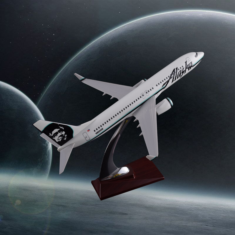 32cm Boeing 737 Alaska Airlines Model Airplane Airbus Aeronautical Resin Aircraft B737 Model Aviation Creative Gift Crafts bbox200 1 200 american frontier airlines boeing 737 200 aircraft model n1pc alloy collection model