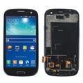 Preto para samsung galaxy s3 neo i9300i gt-i9301 i9308 lcd screen display digitador touch com moldura quadro frete grátis