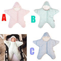 2016 New Baby Sleeping Bag Star Shaped Winter Warm Thick Stroller Sleeping Sack for Newborn Infant 3 Color YY0762