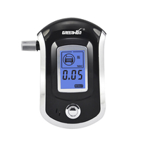 2016 Professional Mini Police Digital LCD Screen Breath Alkohol Alcohol Tester Breathalyzer AT6000 Bafometro Alcoholimetro