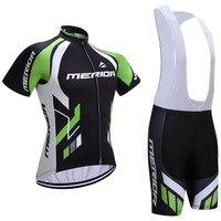 2018 squadra di Merida Abbigliamento Ciclismo Bici jersey Quick Dry Mens vestiti Della Bicicletta maniche corte sky Maglia Ciclismo gel bike shorts