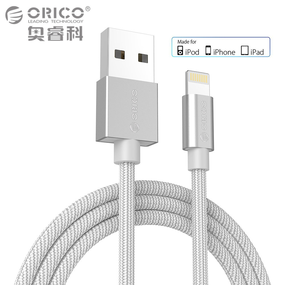 ORICO USB Cable for iPhone 7 2.4A MFi Lighting to USB Cable Fast Charger Data Cable For iPhone 5 6 iPad Mobile Phone Cables