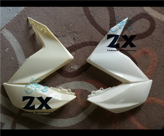 Motorcycle for ABS Plastic upper Side Big Fairing Cove Fit for Kawasaki Z250 2013-2015 Z300 2014 injection fairings part a pairs complete fairings for honda cbr1000rr 12 13 14 2012 2013 2014 abs plastic motorcycle fairing kit