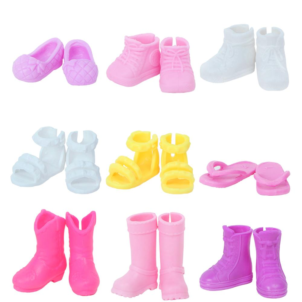 5Pairs 12cm  Doll Shoes Accessories Kelly Doll Confused Doll Shoes Kids Gift  JB