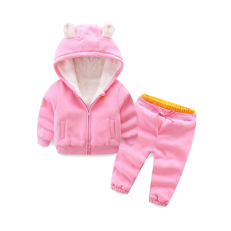 Girls autumn winter clothing set children warm coat+pants 2pcs girl tracksuits costume casual kids sport suits for girls цена